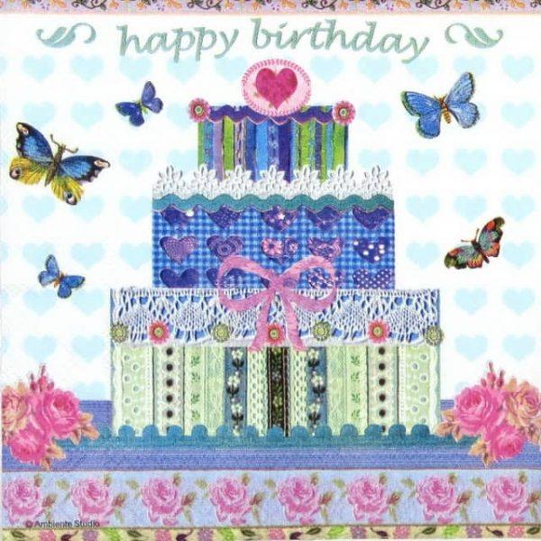 Paper Napkin - Birthday Cake