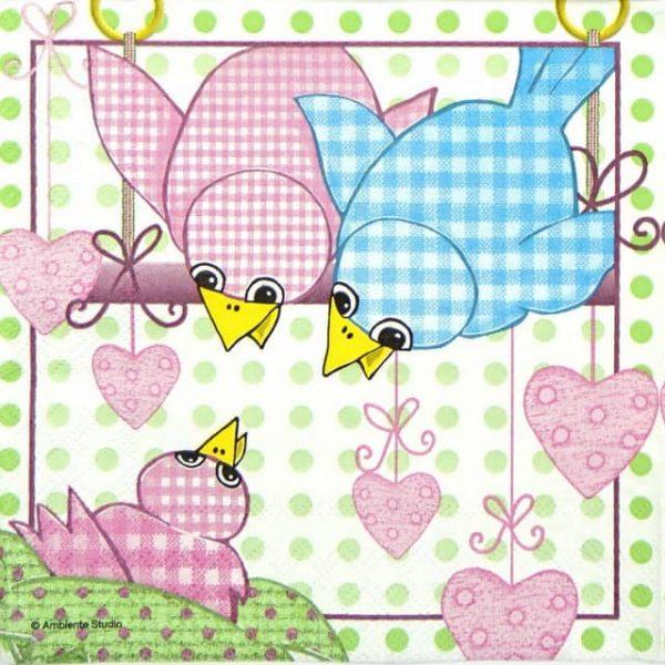 Paper Napkin - Family Bird