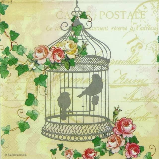Paper Napkin - Gentle Birdcage