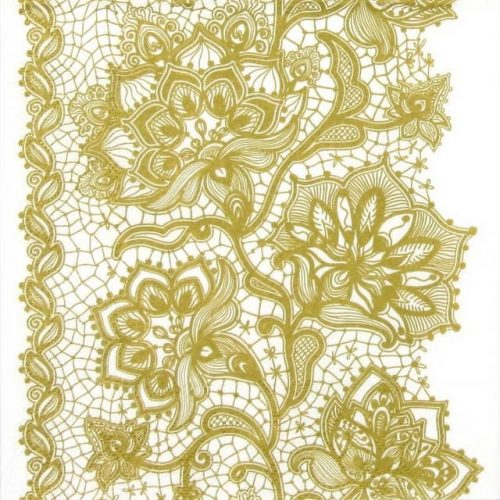 Lunch Napkins (20) - Gloria Lace Gold