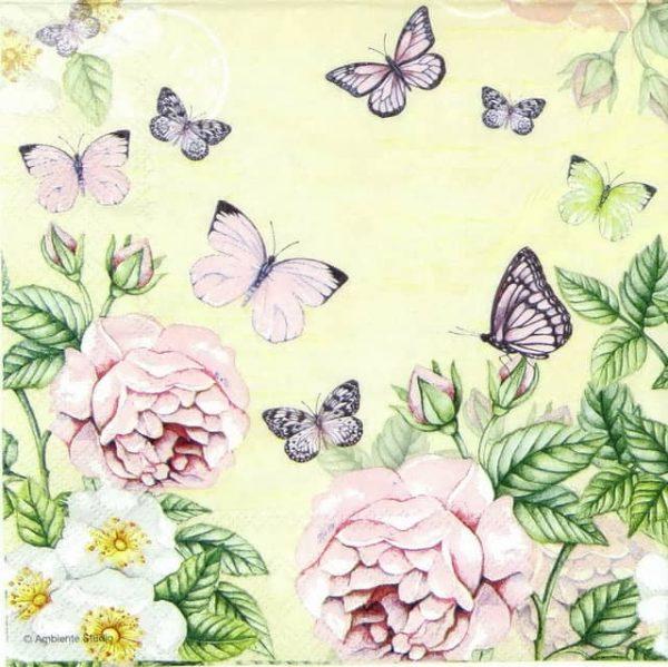 Paper Napkin - Botanical Rose Cream