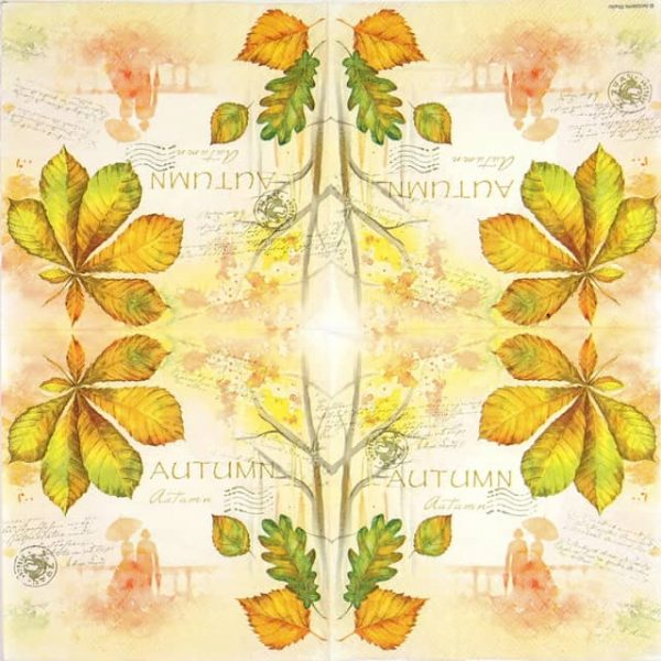 Paper Napkin - Greetings Love