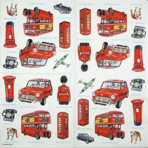 Lunch Napkins (20) - London Icons
