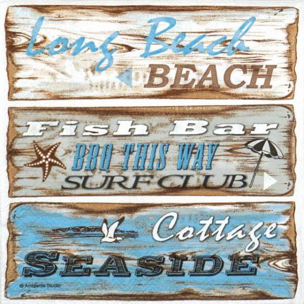 Paper Napkin - Beach Signs