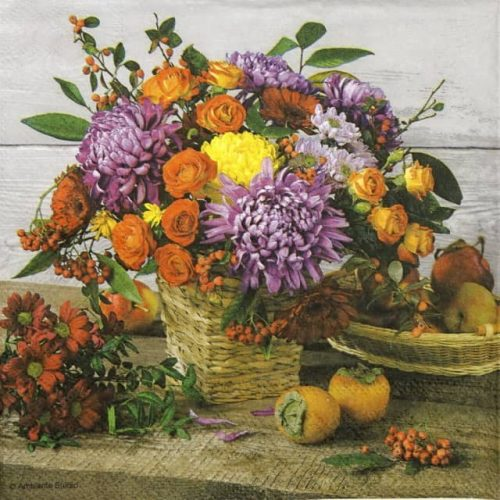 Paper Napkin - Autumn Bouquet