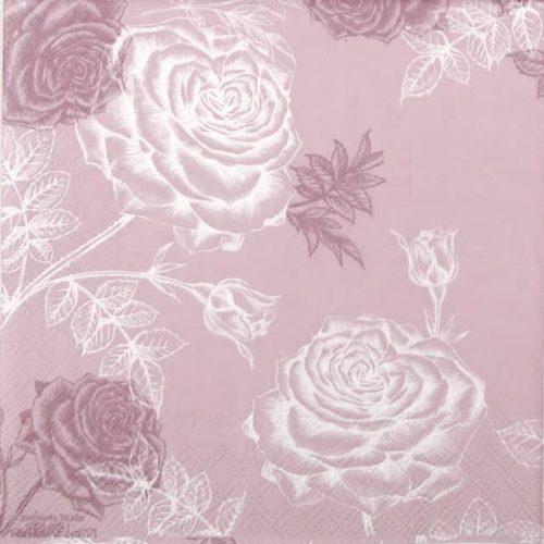 Paper Napkin - Etching Roses - rose