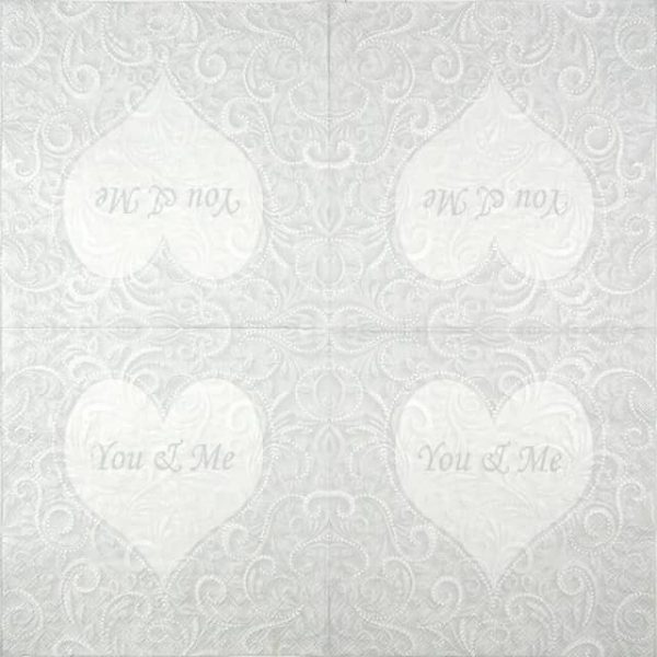 Lunch Napkins (20) - You & Me Champagne