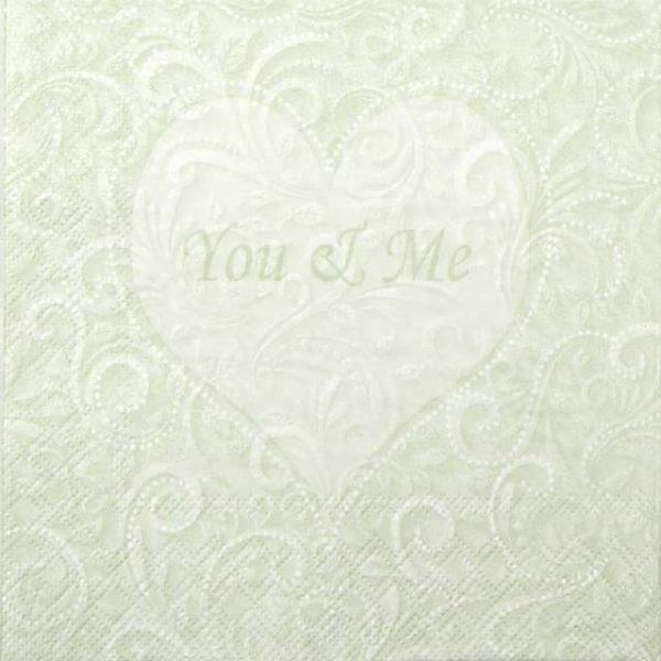 Paper Napkin - You & Me Light Green