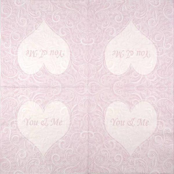 Paper Napkin - You & Me Rose