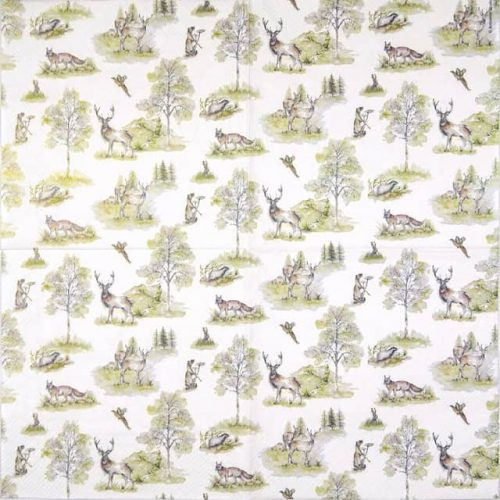Lunch Napkins (20) - Woodland Deer