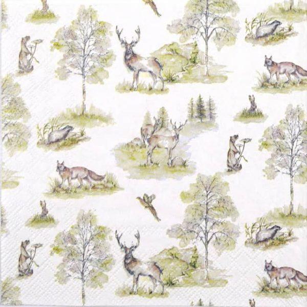 Lunch Napkins (20) - Woodland Deer