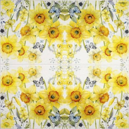 Lunch Napkins (20) - Classic Daffodils
