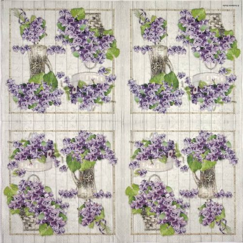 Lunch Napkins (20) - Purple Bouquets