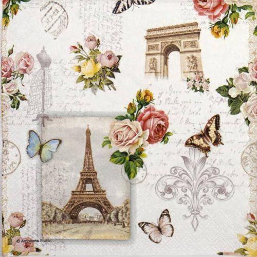 Lunch Napkins (20) - Paris Monuments