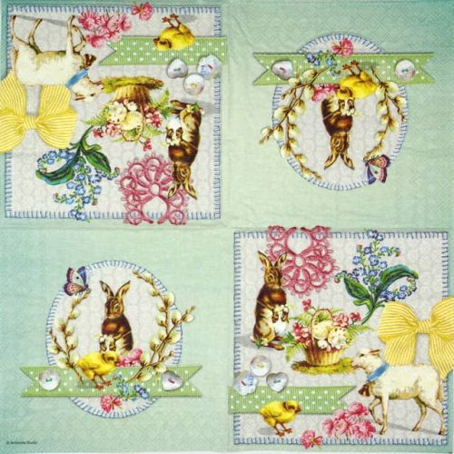 Lunch Napkins (20) - Easter Collage