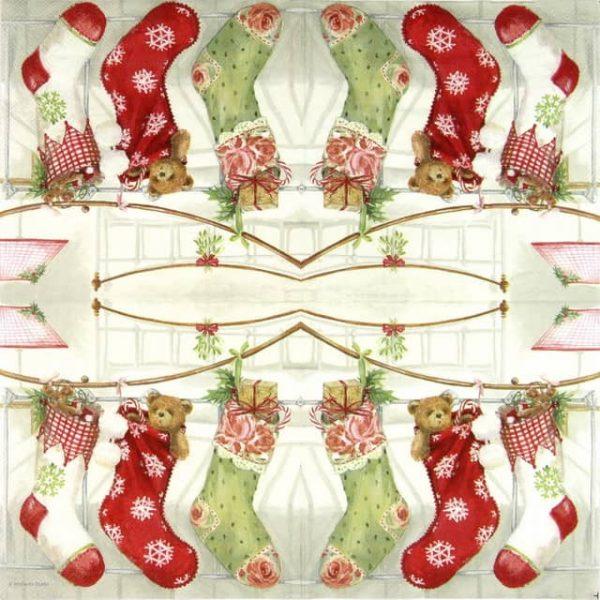 Paper Napkin - X-Mas Stocking