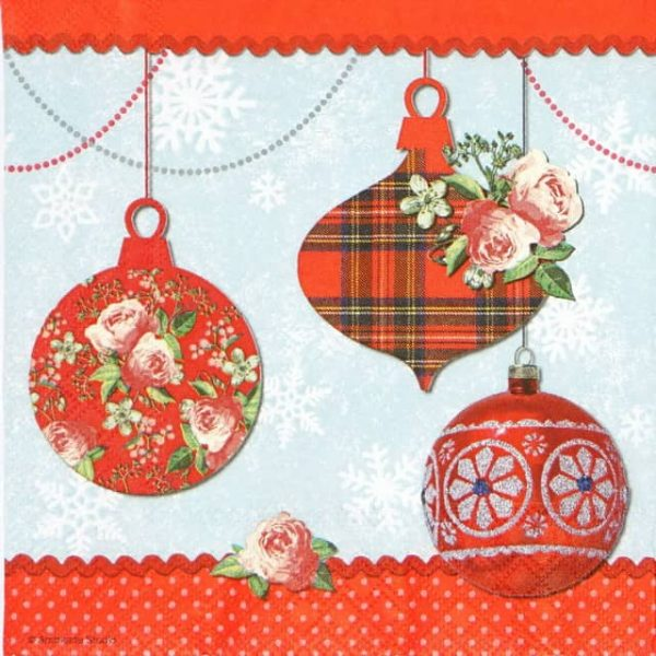 Paper Napkin - Decorated Baubles