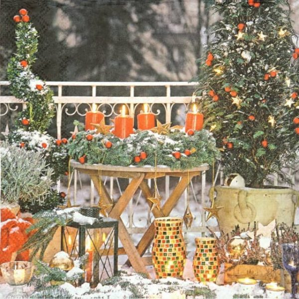 Paper Napkin - Outdoor Christmas