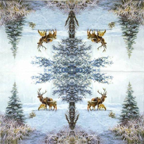 Paper Napkin - Deer Family