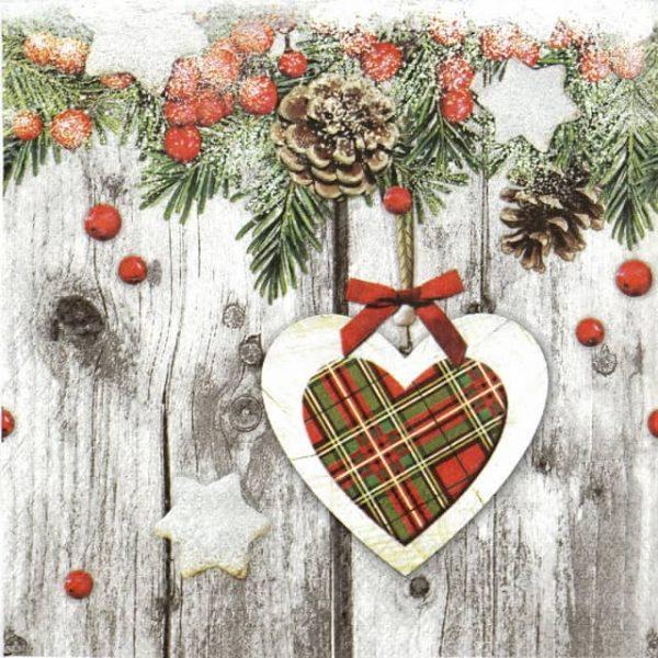 Paper Napkin - Scottish Heart