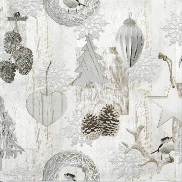 Lunch Napkins (20) -  White Decoration