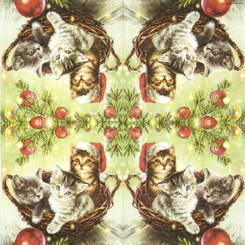 Lunch Napkins (20) - Cats in Basket