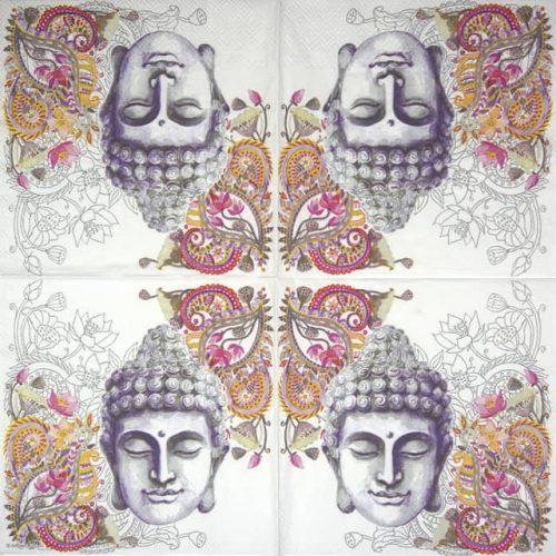 Paper Napkin - Buddha Head stone