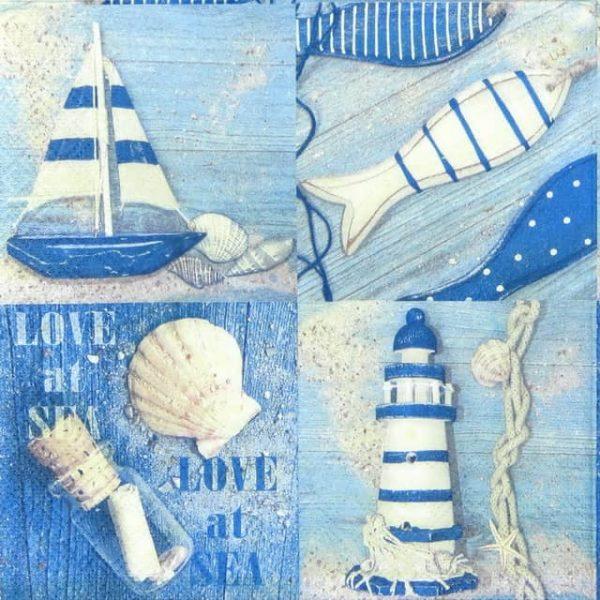 Paper Napkin - Love at Sea