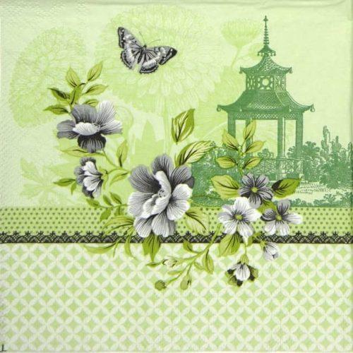 Paper Napkin - Pagode green