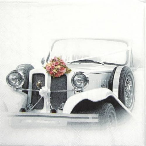 Paper Napkin - Wedding Car