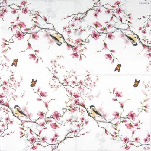 Paper Napkin - Bird & Blossom White