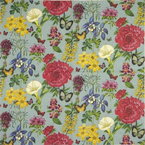 Lunch Napkins (20) - Botanical floral green