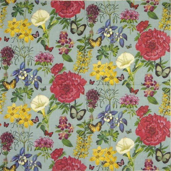 Lunch Napkins (20) - Botanical floral green