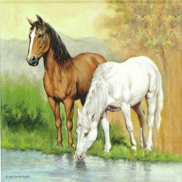Paper Napkin - Horses