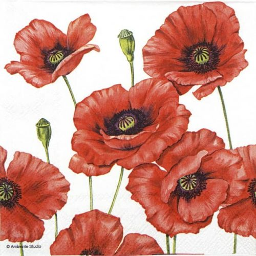 Paper Napkin - Romantic Poppy