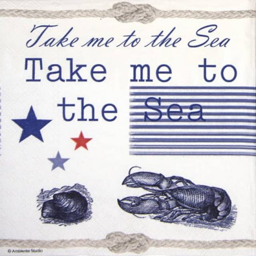 Lunch Napkins (20) - Take me to the Sea
