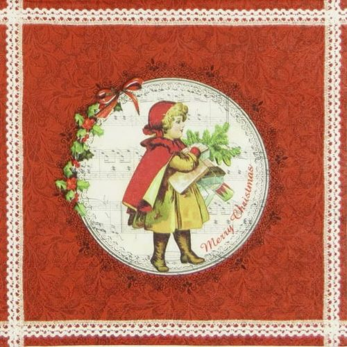 Paper Napkin - Christmas Girl