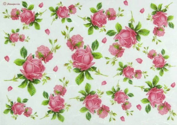 Rice Paper - Texture with Rosebud