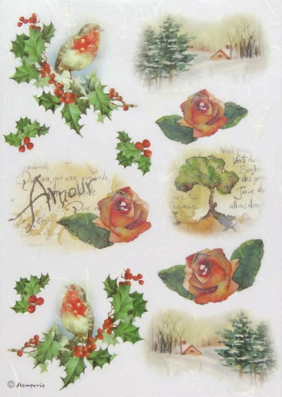 Rice Paper - Amour Red Rose