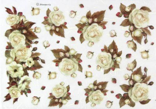 Rice Paper - Winter Wood Roses