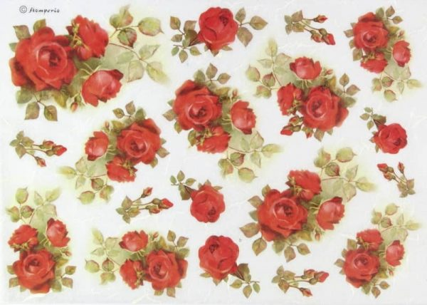 Rice Paper - Red Roses Everywhere