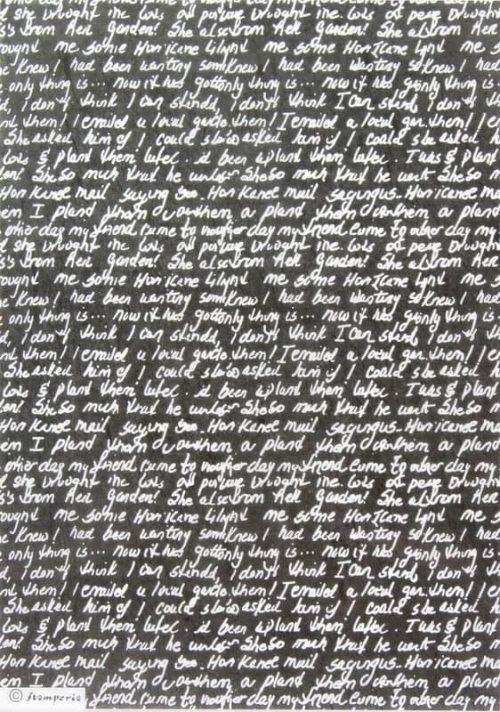 Rice Paper - Hand Writing Black