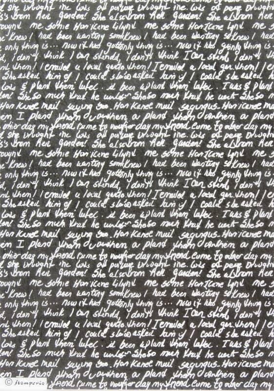 Rice Paper - Hand Writing Black DFSA4162 Stamperia