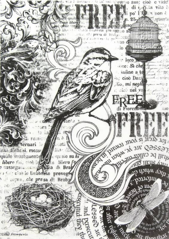 Rice Paper - Black Birds