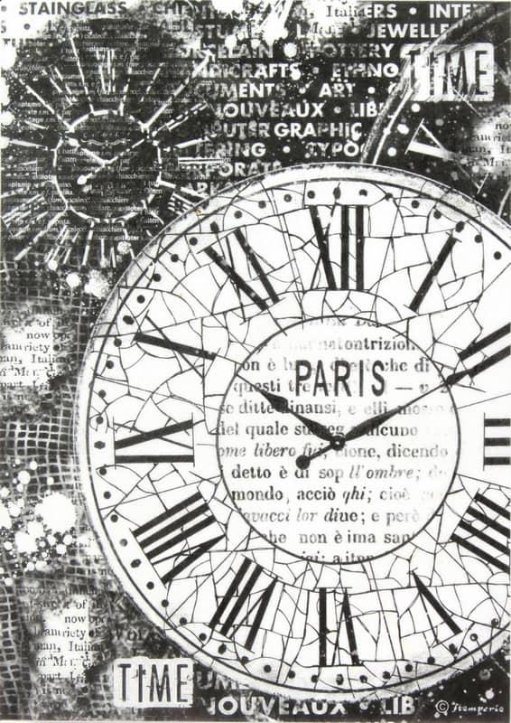Rice Paper - Black Clocks Paper
