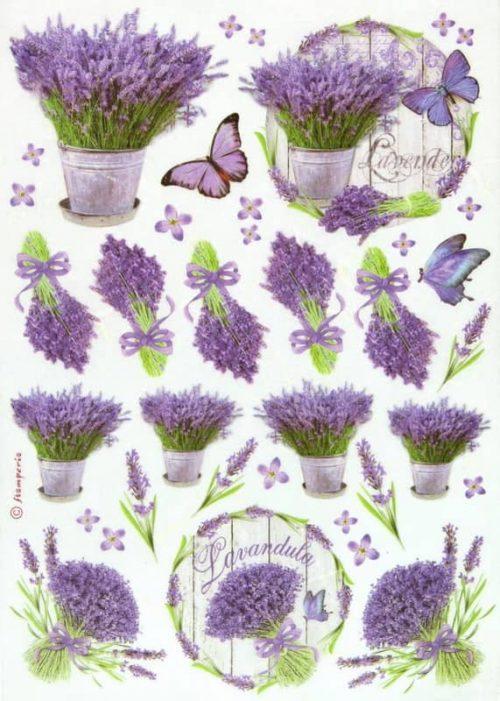 Rice Paper - Lavender Stamperia DFSA4175