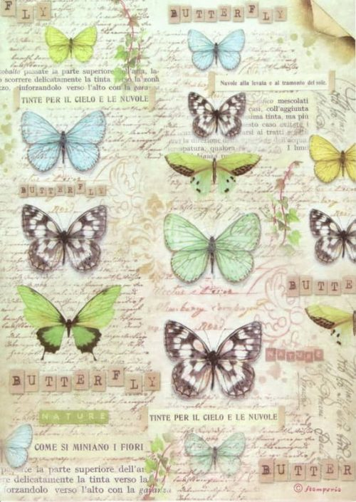Rice Paper - Vintage Butterfies