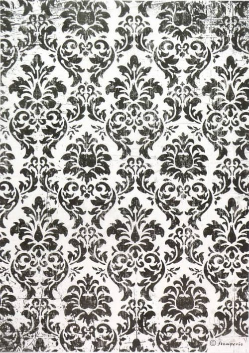 Rice Paper - Black & White Wallpaper