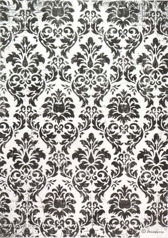 Rice Paper - Black & White Wallpaper
