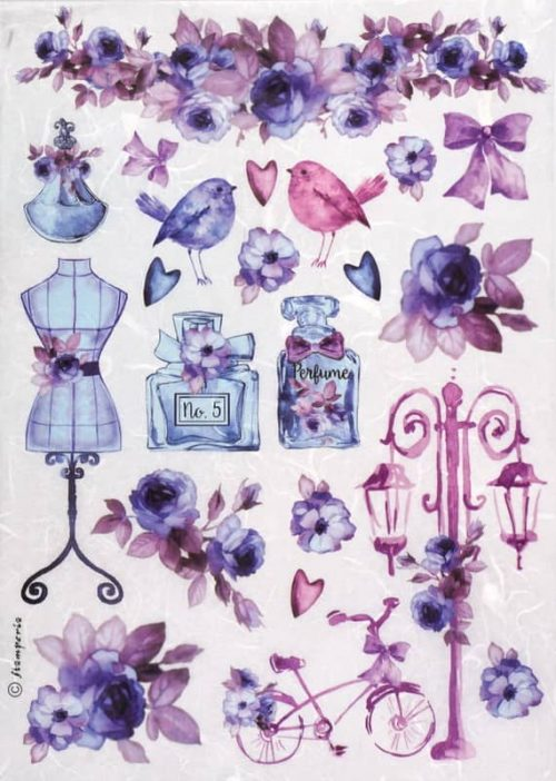 Rice Paper - Purple Fashion